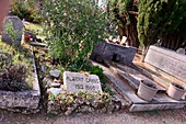 Cemetery with Camus tomb in Lourmarin in Luberon, Provence, France