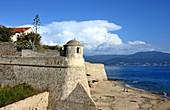 Cloud formation on Boulevard Lantivy with castle, Ajaccio, western Corsica, France