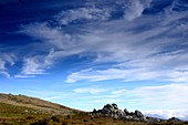 Cloud formation over the Plateau du Cuscio at Quenza in the Alta Rocca, South Corsica, France