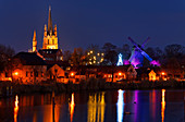 Werder / Havel, island town at Christmas time, Brandenburg, Germany