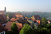 City view, Rothenburg ob der Tauber, Middle Franconia, Bavaria, Germany