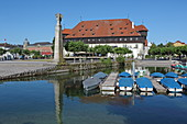 Council building at the port of Constance, Lake Constance, Baden-Wuerttemberg, Germany