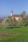 Cistercian priory at Birnau Monastery, Uhldingen, Baden-Württemberg, Germany