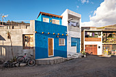 View of the house facades in the fishing village of la Bombilla, La Palma, Canary Islands, Spain, Europe