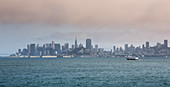 San Francisco skyline from the bay, USA