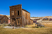 Old house of Bodie ghost town, an old gold mining town in California, United States