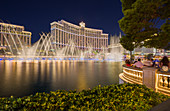 Fountain at Bellagio Hotel at night in Las Vegas, USA