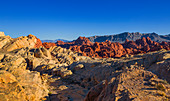 Yellow and red rocks in the Valley of Fire, USA