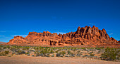 Red rock formations in the Valley of Fire, USA