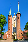Archcathedral baroque church in Gdansk Oliwa, dedicated to The Holy Trinity, Blessed Virgin Mary, and St. Bernard. Gdansk Oliwa, Pomorze region, Pomorskie voivodeship, Poland, Europe