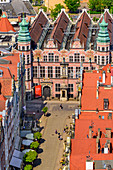 Die Große Waffenkammer, heute Akademie der bildenden Künste, westliches Ende der Piwna-Straße,  Danzig, Polen, Europa