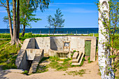 """One of the preserved bunkers named """"Placowka Fort"""" on Westerplatte, peninsula in Gdansk, Poland, located on the Baltic Sea coast mouth of the Dead Vistula"""
