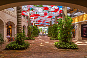 Quality brand shops in shopping mall at Holetown, Barbados, West Indies, Caribbean, Central America