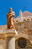 Außenansicht der Geburtskirche auf dem Krippenplatz, Bethlehem, Palästina, Naher Osten