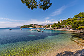 View of Cavtat on the Adriatic Sea, Cavtat, Dubrovnik Riviera, Croatia, Europe
