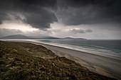 Luskentyre Beach, West Harris, Äußere Hebriden, Schottland, Vereinigtes Königreich, Europa