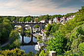 Knaresborough viaduct and the River Nidd in springtime, Yorkshire, England, United Kingdom, Europe