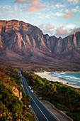 Shot of Kogel Bay at sunset, Cape Town, South Africa, Africa