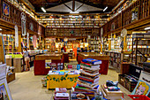 Antiquarian bookshop in Le Somail on the Canal du Midi, Occitania, France