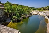 River bath, Ribaute, Occitania, France