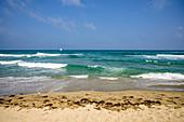 Sky, sea and sandy beach, Occitania, France
