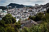 Cityscape of Nagasaki, Japan.