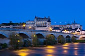 France, Indre et Loire, Loire Valley listed as World Heritage by UNESCO, Amboise, the Royal castle on the Loire river