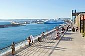 Frankreich, Bouches-du-Rhône, Marseille, Gebiet von Euroméditerranée, Bezirk La Joliette, Terrassen du Port