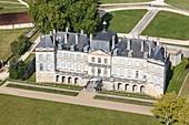 France, Charente Maritime, Plassac, Plassac castle (aerial view)