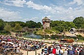 France, Vendee, Les Epesses, Le Puy du Fou historical theme park, the vikings show