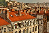 France, Rhone, Lyon, historical site listed as World Heritage by UNESCO, view of St. Jean's Cathedral and part of the historic city center