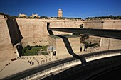 France, Bouches du Rhone, Marseille, Footbridge of the MUCEM (Museum of civilizations for Europe and the Mediterranean Sea)