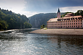 Danube breakthrough at Weltenburg Abbey, Danube, Bavaria, Germany