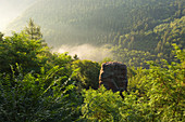 Viewpoint Elisensitz near Kastel-Staadt, Saar, Rhineland-Palatinate, Germany