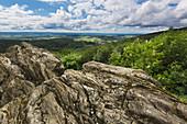 Viewing rock Großer Zacken, Taunus, Hessen, Germany