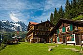 Berggasthof Tschingelhorn, rear Lauterbrunnen Valley, Lauterbrunnen, Murren, Bernese Oberland, Switzerland