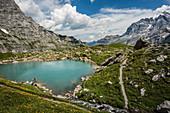Oberhornsee, rear Lauterbrunnen Valley, Lauterbrunnen, Bernese Oberland, Switzerland