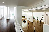 Interior shot, painting by Karin Kneffel, Frieder Burda Museum, architect Richard Meier, Baden-Baden, Black Forest, Baden-Württemberg, Germany