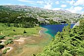 Bergsee auf der Passüberfahrt von Alaska nach Kanada, Fraser, Kanada