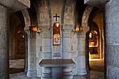 France, Loiret, Saint Benoit sur Loire, Fleury Abbey, crypt