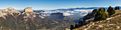 France, Isere, Parc Naturel Regional du Vercors (Natural regional park of Vercors), Trieves, nature reserve highlands of Vercors, the Mont Aiguille (2086m) seen by Tete Chevaliere