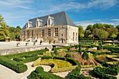 France, Haute Marne, Joinville, castle du Grand Jardin, west facade and inspiration Renaissance Park