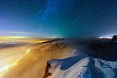 Chamonix from Aiguille du Midi, Rhone Alps, Haute Savoie, France, Europe