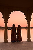 Women In Traditional Dress, Jaisalmer, Western Rajasthan, India