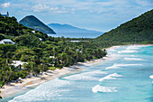 View over Long Beach, Tortola, British Virgin Islands, West Indies, Caribbean, Central America