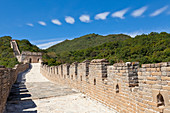Newly restored section of the Great Wall of China, UNESCO World Heritage Site, Mutianyu, Beijing District, China, Asia