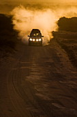 Land Rover at sunrise, Western Australia, Australia, Pacific