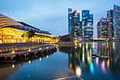 Marina Bay Sands and Financial District, Singapore, Southeast Asia, Asia