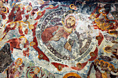 Frescoes at Sumela Monastery, Greek Orthodox Monastery of the Virgin Mary, Black Sea Coast, Trabzon Province, Anatolia, Turkey, Asia Minor, Eurasia