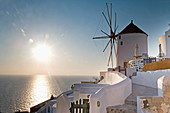 Windmill, Oia, Santorini (Thira), Cyclades Islands, Greek Islands, Greece, Europe
